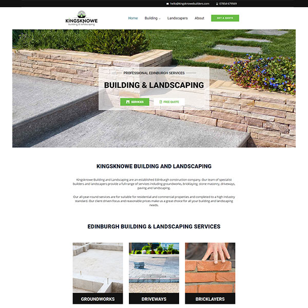 Kingsknowe Building and Landscaping